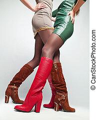 women's feet,
