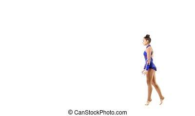 Women's gymnastics, coups. - Young women doing calisthenics...