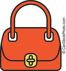 Women's handbag color icon