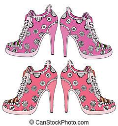 Women's high heels set