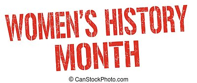 Women's history month sign or stamp