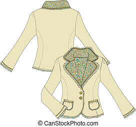 womens inner print tailor jacket