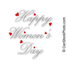 womens, jour, carte, salutation