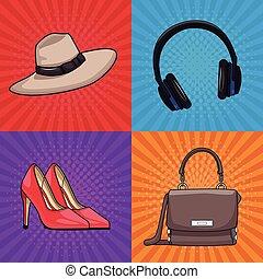 womens, mode, samling