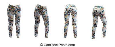 women's pants in a flower