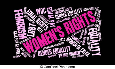 Womens Rights Word Cloud - Womens Rights word cloud on a...