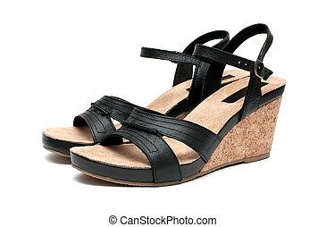 women's sandals - Women's sandals on a white background