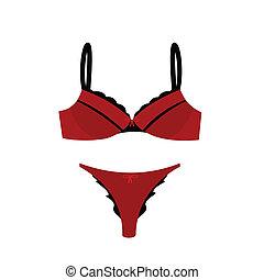 Women\'s sexy lingerie - Realistic illustration of women\'s...