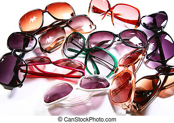 Womens Shades - Summer Eyewear for Women - Isolated on White