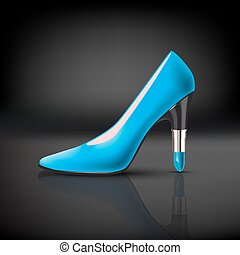 womens shoe with lipstick heel