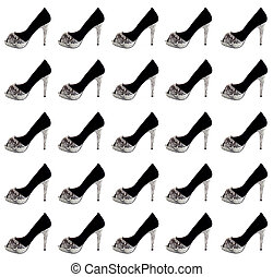 Women's shoes, collage