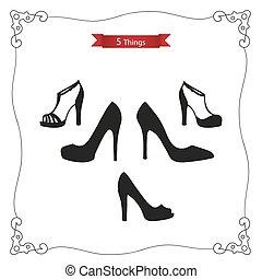 "Women's shoes - Set ""5 things"": women's shoes. Platform ..."