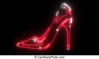 women's shoes with heels that glow red