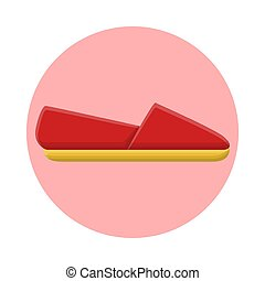 Womens Simple Footwear Fashion Style. Flat Icon Vector Design