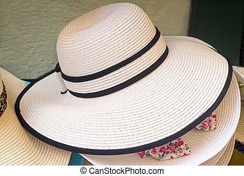 Women's summer hat for sun protection.