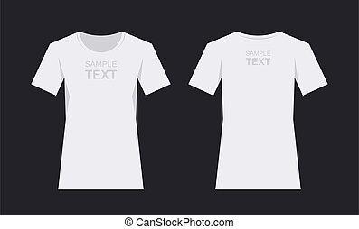 Women`s white t-shirt design template