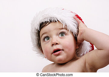 Wonder of Christmas - Baby in santa hat