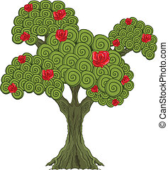 Illustration of Wonderland rose tree