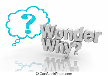 Wonder Why Thought Cloud Question Mark Asking Question 3d Illustration