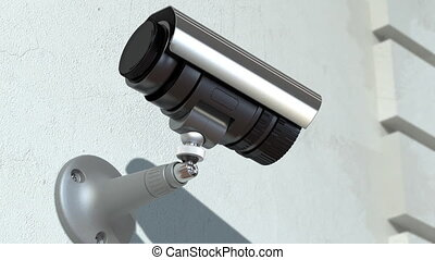 wondered surveillance camera , loop-able 3d animation
