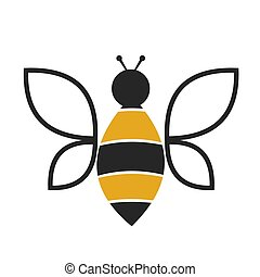 Wonderful bee design on a white background.