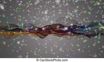 Wonderful christmas animation with moving waves and...