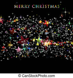 Wonderful Christmas background design illustration with...