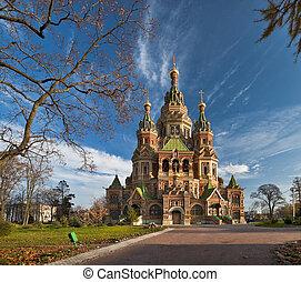 Wonderful church in Russia