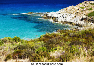 Wonderful Colors of the Corsica Sea, France
