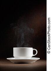 coffee - wonderful cup of hot coffee with smoke