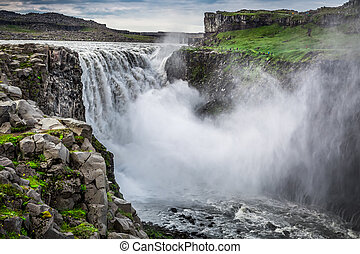 Wonderful Dettifoss waterfall in Iceland