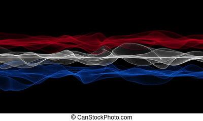 Wonderful dutch wave flag, loop HD - Wonderful dutch color...