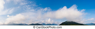 wonderful dynamic cloudscape above the mountains - wonderful...