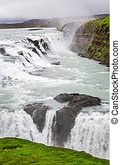 Wonderful Gullfoss waterfall in Iceland