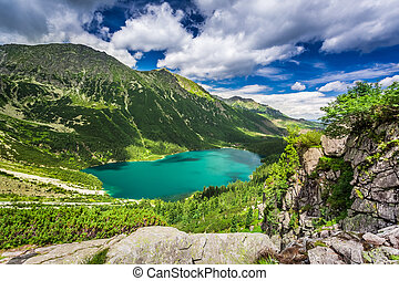 Wonderful lake in the mountains in summer, Poland, Europe