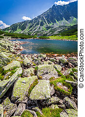 Wonderful lake in the Tatra Mountains
