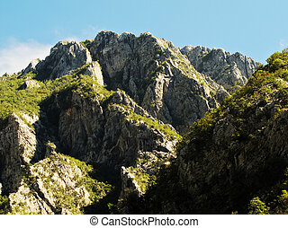 Wonderful landscape in the mountains Dynaric Alps in Montenegro