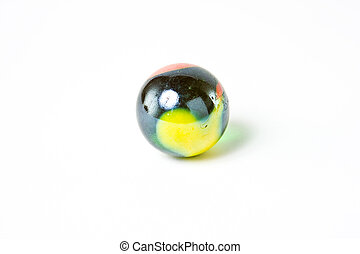 Wonderful multicolored glass marble - A wonderfully...