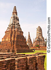 Wonderful Pagoda Ayutthaya, Thailand - Wonderful Pagoda Wat...