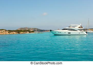 Wonderful paradise beach in Maddalena, Sardinia, Italy