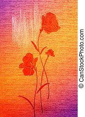 Wonderful poppies on the canvas. - Amazing poppies on the...