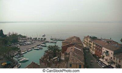 Wonderful scenery of northen Itlay - Limone,  Lago di garda. Panoramic view
