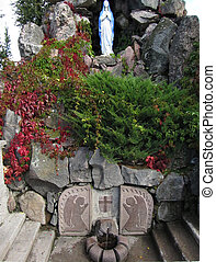 Wonderful source of water, Shrine of Our Lady of Sorrows in...