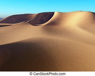 Wonderful sunlight around the Sahara desert 3d rendering -...