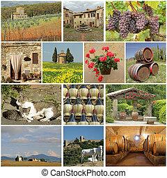 wonderful Tuscany - collage