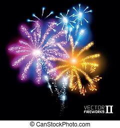 Wonderful Vector Fireworks - More beautiful vector...