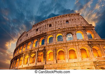 Wonderful view of Colosseum in all its magnificience -...