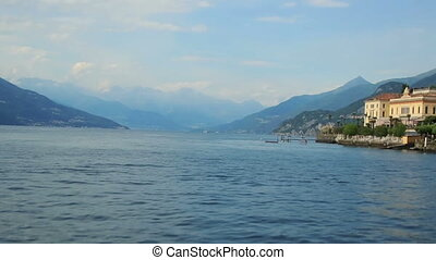 Wonderful view on the lake Como, Italy