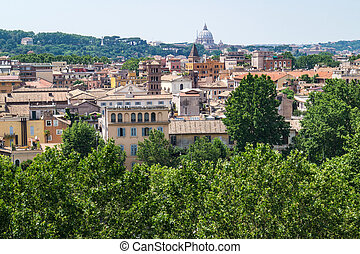 Wonderful View over the Eternal City of Rome