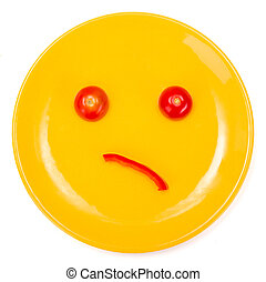 Wondering smiley face made on plate